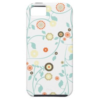 Spring flowers girly mod chic floral pattern