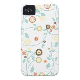 Spring flowers girly mod chic floral pattern blackberry bold cases