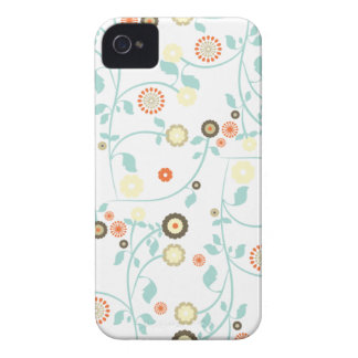 Spring flowers girly mod chic floral pattern iPhone 4 Case-Mate case