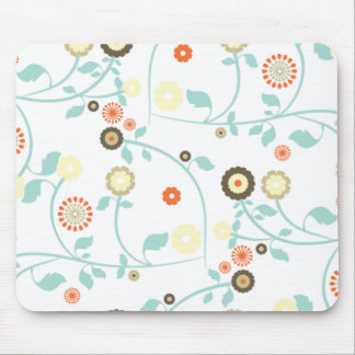 Spring flowers girly mod chic floral pattern mousepads