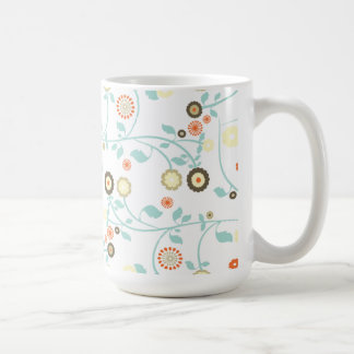 Spring flowers girly mod chic floral pattern mugs
