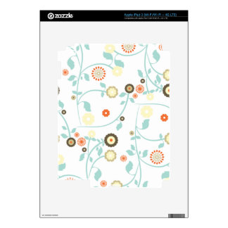 Spring flowers girly mod chic floral pattern skins for iPad 3