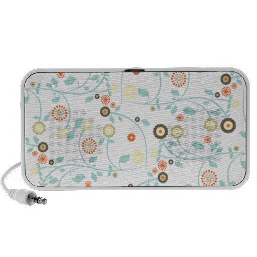 Spring flowers girly mod chic floral pattern speaker system