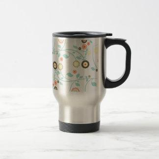 Spring flowers girly mod chic floral pattern travel mug