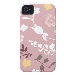 Spring flowers girly mod chic pink floral pattern iPhone 4 case