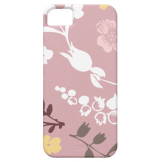 Spring flowers girly mod chic pink floral pattern iPhone SE/5/5s case