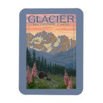 Spring Flowers - Glacier National Park, MT Magnet