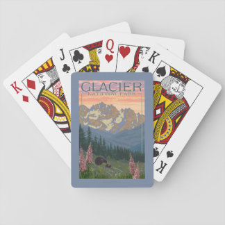 Spring Flowers - Glacier National Park, MT Playing Cards