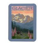 Spring Flowers - Glacier National Park, MT Rectangular Photo Magnet