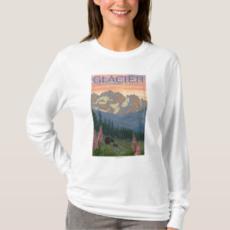 Spring Flowers - Glacier National Park, MT T-Shirt