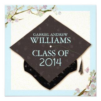 Spring Flowers + Graduation Cap 2014 Party Invites