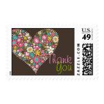 Spring Flowers Heart Love Bridal Shower Wedding Stamps
