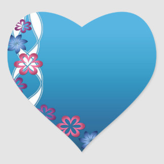 Spring Flowers Heart Sticker