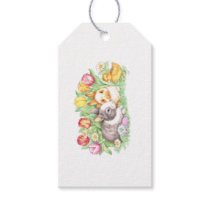 Spring Flowers Holiday Chick Easter Bunny Gift Tag