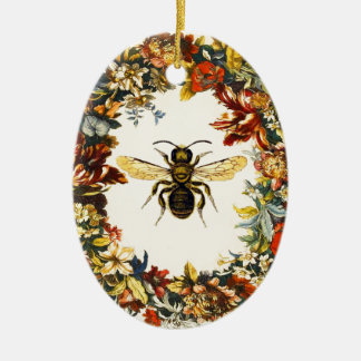 SPRING FLOWERS HONEY BEE / BEEKEEPER BEEKEEPING CERAMIC ORNAMENT
