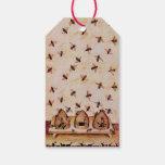 SPRING FLOWERS HONEY BEE ,BEEKEEPER Christmas Pack Of Gift Tags