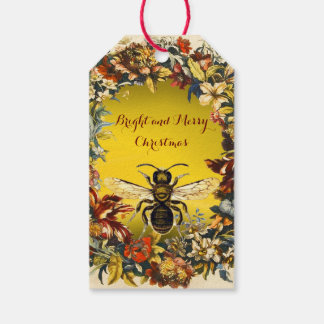 SPRING FLOWERS HONEY BEE ,BEEKEEPER Christmas Gift Tags