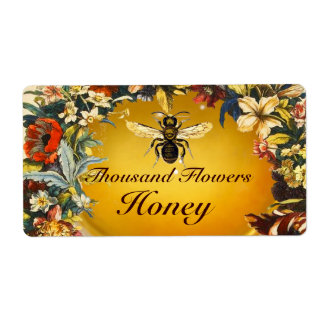 SPRING FLOWERS HONEY BEE ,BEEKEEPER SHIPPING LABELS