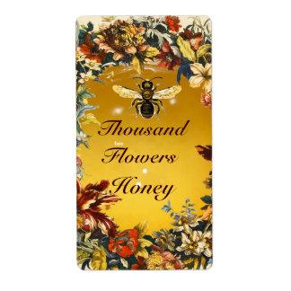 SPRING FLOWERS HONEY BEE ,BEEKEEPER LABEL