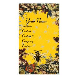 SPRING FLOWERS HONEY BEE ,BEEKEEPING,BEEKEEPER BUSINESS CARD