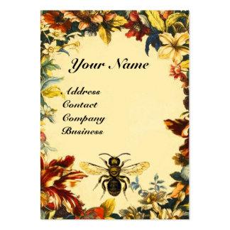 SPRING FLOWERS HONEY BEE ,BEEKEEPING,BEEKEEPER LARGE BUSINESS CARD