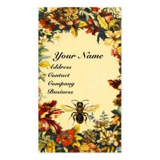 SPRING FLOWERS HONEY BEE BEEKEEPING BROWN WAX SEAL BUSINESS CARD