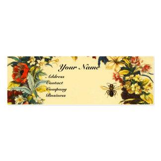 SPRING FLOWERS HONEY BEE BEEKEEPING BROWN WAX SEAL MINI BUSINESS CARD
