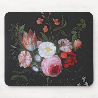 Spring Flowers in a glass vase, 17th century Mouse Pad