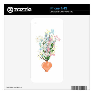 Spring Flowers in a Vase Skins For The iPhone 4