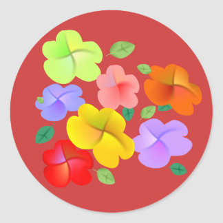 Spring Flowers in Bloom Classic Round Sticker
