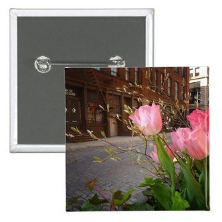 Spring Flowers in Soho, New York City Pinback Buttons