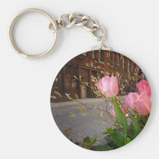 Spring Flowers in Soho, New York City Keychain