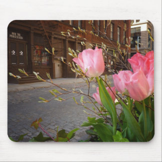 Spring Flowers in Soho, New York City Mouse Pad