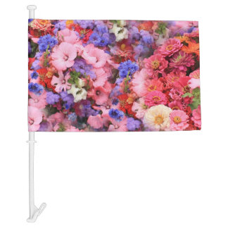 Spring Flowers in the Park Car Flag