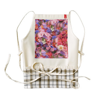 Spring Flowers in the Park Zazzle HEART Apron
