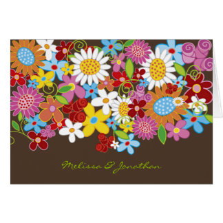 Spring Flowers Invitation Announcement Custom Card