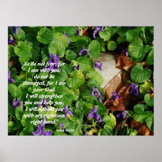 Spring Flowers Isaiah 41:10 Print