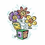 Spring Flowers Jack in Box Cut Out