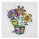 Spring Flowers Jack in Box Poster