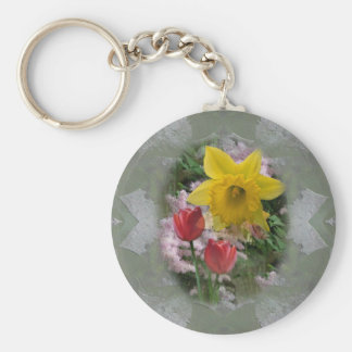 Spring Flowers Key Chains