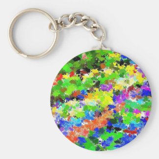 Spring Flowers Keychain