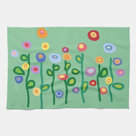 Spring flowers kitchen towels
