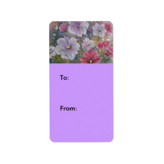SPRING FLOWERS LABEL