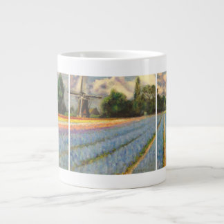 Spring Flowers Landscape Large Coffee Mug