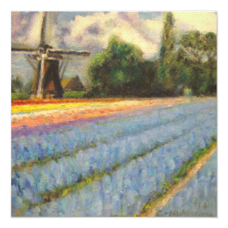 Spring Flowers Landscape Triptych Painting 2 of 3 Card