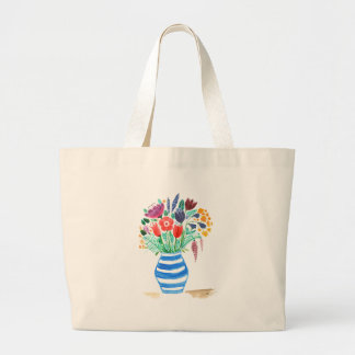 Spring Flowers Large Tote Bag