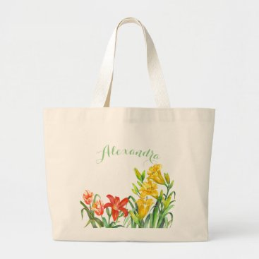 Professional Business Spring Flowers Large Tote Bag