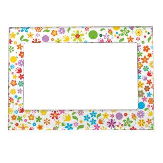 Spring Flowers Magnetic Photo Frame