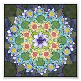 Spring Flowers Mandala Art Photo