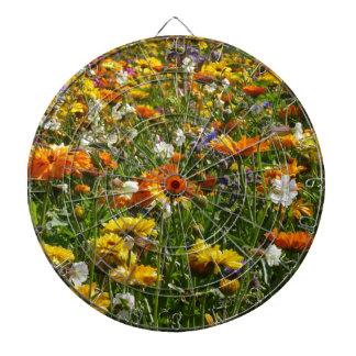 Spring Flowers Meadow Dartboard With Darts